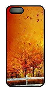 Beautiful Autumn Colors Gradient Protective Hard Plastic Back Fits Cover Case For HTC One M7 Cover -1122093
