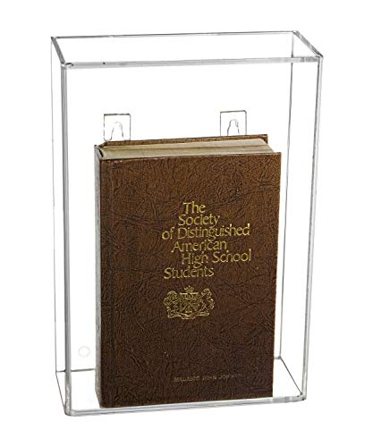 Deluxe Clear Acrylic Book Display Case with Wall Mount (A020)