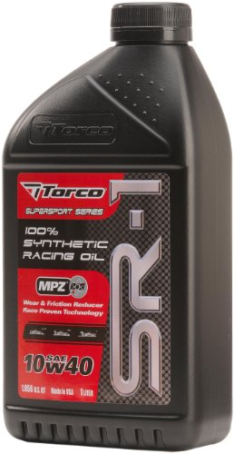Torco A161044C SR-1 10w40 Synthetic Racing Oil Bottle - 1 Liter Bottle, (Case of 12) (Racing Torco)