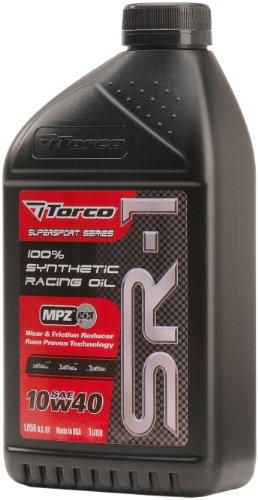 Torco A161044C SR-1 10w40 Synthetic Racing Oil Bottle - 1 Liter Bottle, (Case of 12)