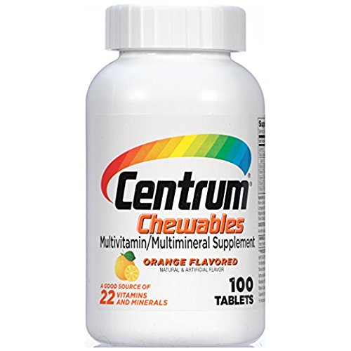 Centrum Multivitamin/Multimineral Supplement (Orange Burst Flavor, 100 Count Chewables)