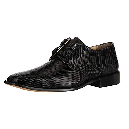 Liberty Derby Dress Shoes Men's Formal PU Leather Classic Tread Design Lace Up Shoes Black