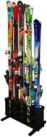 StoreYourBoard Ski Storage Rack, Freestanding Multi Skis Floor Rack