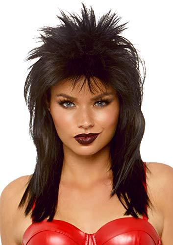 Leg Avenue Women's Unisex Rockstar Wig, Black, One Size