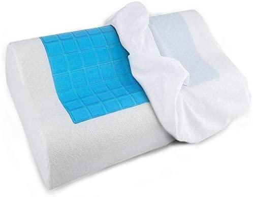 The Bamboo Pillow Almohada cervical con gel frio ideal menopausia - Almohada viscoelastica tipo cojín ortopédico - Almohadas de espuma de memoria para ...