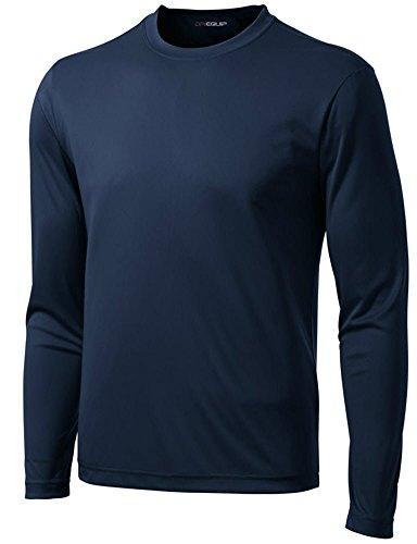 DRI-Equip Long Sleeve Moisture Wicking Athletic Shirt-Medium-True Navy