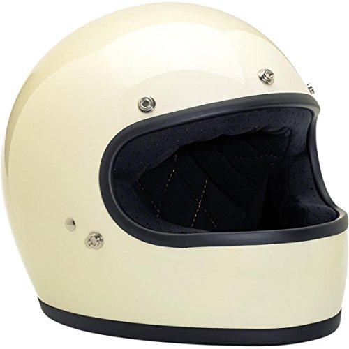 Biltwell Inc. Unisex Adult Gringo Vintage White Full Face Helmet GH-WHT-GL-DOT-XXL ()