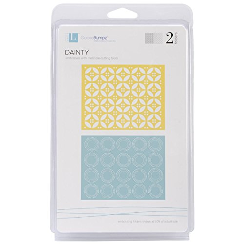 QUICKUTZ Lifestyle Crafts Dainty Embossing Folder, 2-Pack