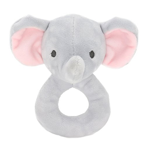 (Ohomr Baby Cute Elephant Rattle Newborn Infant Baby Handbell Made of High-Elastic Cotton for 0~3 Year-Old Baby)