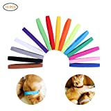 Yeawooh 15 Colours Whelping Puppies ID Pet Dog Cat Collars Soft Adjustable Bands Collars