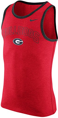 NIKE Georgia Bulldogs Men's College Cotton Arch Tank Top Sleeveless Shirt (Large, Red)
