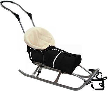 Baby Joy SF-15 XXL - Carrito trineo para bebé con saco inferior de forro polar, color negro: Amazon.es: Deportes y aire libre