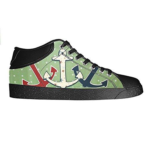 Dalliy Blau des Ozeans Anker Mens Canvas shoes Schuhe Lace-up High-top Sneakers Segeltuchschuhe Leinwand-Schuh-Turnschuhe