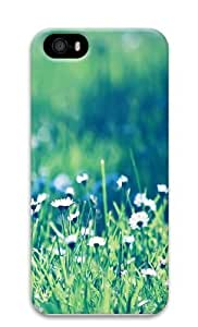 daisies field Polycarbonate Hard Case Cover for iPhone 5/5S 3D