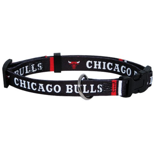 NBA Chicago Bulls Adjustable Pet Collar, Team Color, Small