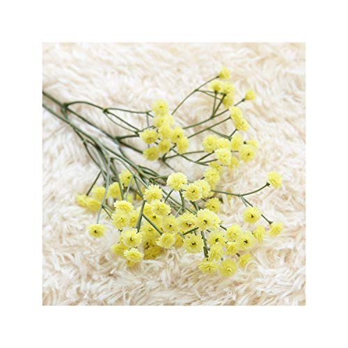 Artificial Flowers False Gypsophila Wedding Decoration Photo Props Flower Heads Branch Fleur Artificielle Sztuczne Kwiaty,Yellow