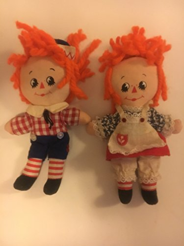 Vintage Knickerbocker Mini Raggedy Ann & Andy Doll Set Rare Hard To FInd (Ann Knickerbocker Raggedy)