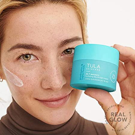 girl holding tula day & night cream