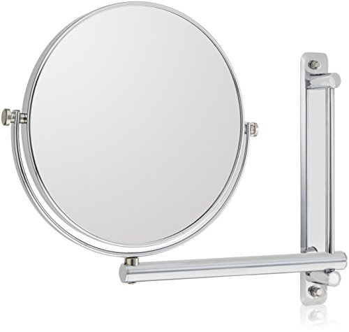 Frasco Mirrors Wall Mount Double Sided Mirror, Chrome, 2.5 lb.