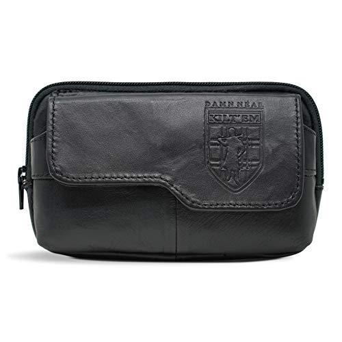 (Damn Near Kilt 'Em Premium Utility Satchel Kilt Accessory Parent Black Leather)