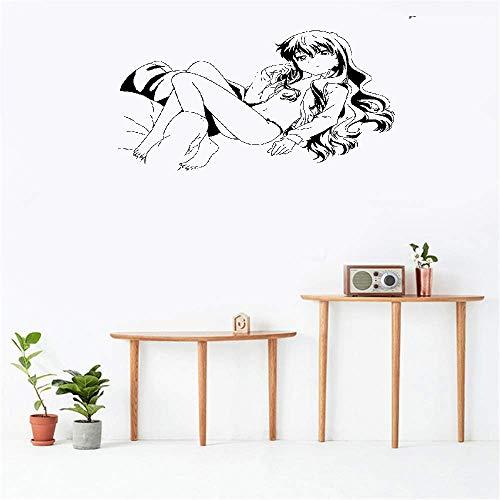 Bluegiants Wall Stickers Art Decor Decals Anime Manga Sexy Bikini Girl for Bedroom ()