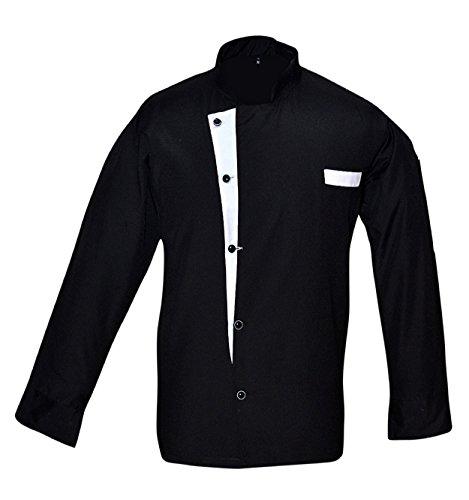 Leorenzo Creation NC-01 Beauteous Design Men's Chef Coat (Size- L, Colour Black)