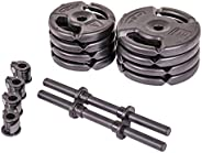 Club Quality 4-Weight Deluxe Barbell Set (Includes The bar) by Step Fitness