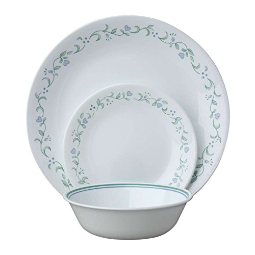 Corelle 18-Piece Service for 6, Chip Resistant, Country Cottage Dinnerware -