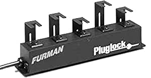 Panamax PLUGLOCK-PFP extensión - extensiones de corriente (1.5m, Negro, Negro, Acero)