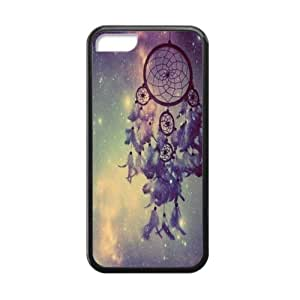 Colorful Cloud Feather Dream Catcher Pattern Hard Case Iphone 5c Shell Case Cover (Laser Technology)