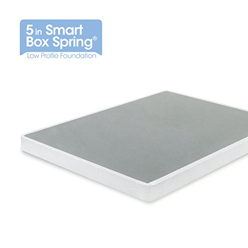 Twin Mattress Foundation - Zinus 5 Inch Low Profile Smart Box Spring / Mattress Foundation / Strong Steel structure / Easy assembly required, Twin
