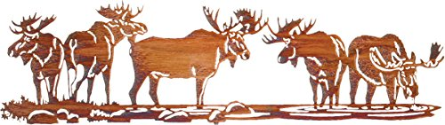 Thirstystone Moose Scene Over The Door Wall Art, - Wall Moose Hanging