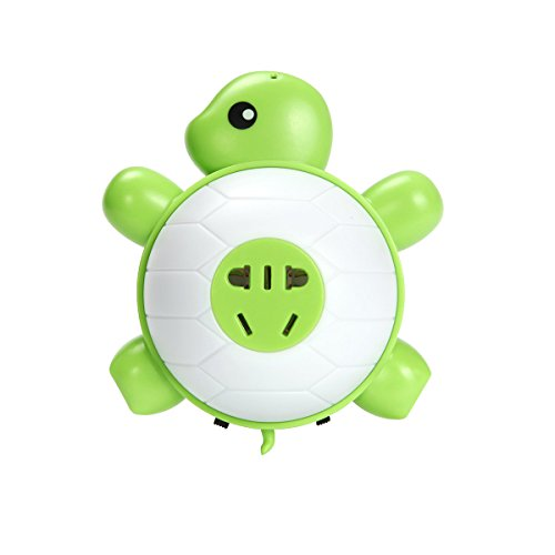 Apple Night Light (Manve Baby turtle LED Night Light, with light Sensor and Dual USB Wall Charger, in the Dark for Hallway Bathroom bedroom Living Room Kitchen (Warm)