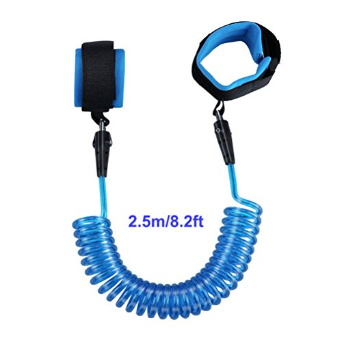 Anti Lost Wrist Link - COOLEAD Child Safety Wristband, Wrist Leash for Toddlers Babies,2.5m/8.2ft Blue