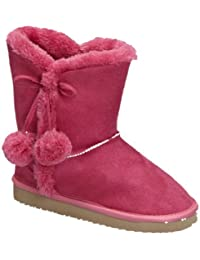Cailin 2K Little Girls Shearling Boots Fushia