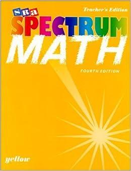 Spectrum Mathematics - Yellow Book, Level 5 - Teacher's Edition by Sra (1997-06-03)
