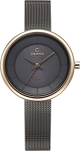 OBAKU watch LYS GRANITE solar 3 needle V206LRVJMJ Ladies
