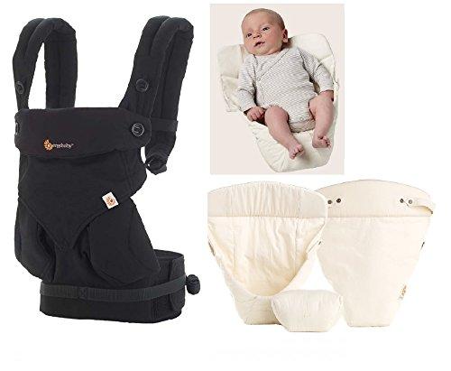 Ergobaby 360 4 position baby carrier Pure Black en Snug Natural