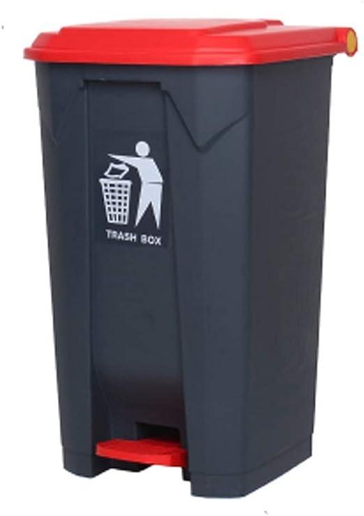 Bote de basura Cubo de basura grande al aire libre Pedal de basura ...