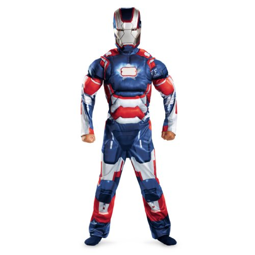 Child Muscle Iron Patriot Costumes (Iron Patriot Classic Muscle Child Costume - Large)