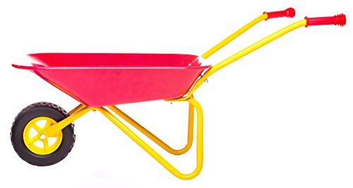 mmp living kids metal wheelbarrow plus tools kneepad red