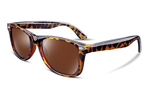 FEISEDY Great Classic Polarized Sunglasses Men Women Mirrored HD Lens B1858 4 Leopard