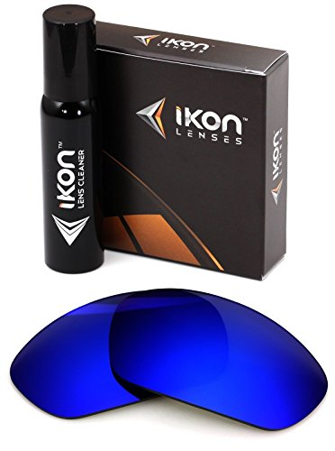 Polarized Ikon Iridium Replacement Lenses for Oakley X-Metal Juliet Sunglasses - Deep Blue Mirror