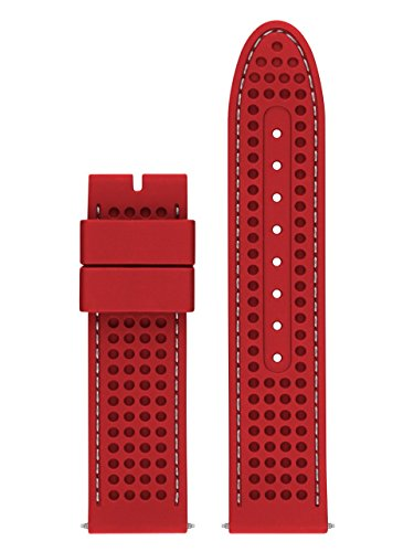 GUESS CS1002S10 22mm Silicone Red Watch - Designer Guess Clothing