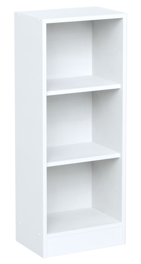 INFINIKIT Haven Small Bookshelf - White Parisot 8422BIBU-ECR