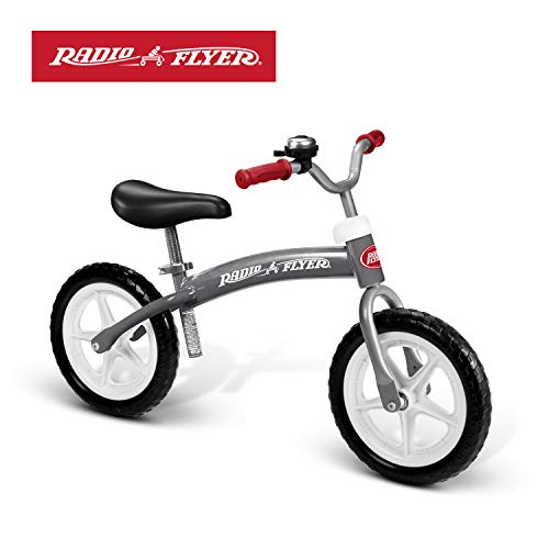 Radio Flyer Balance Bike Glide and Go, Gray (Best Bicycle For 2 Year Old)