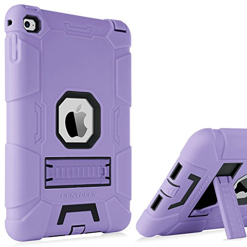 iPad Mini 4 Case,BENTOBEN Kickstand Hybrid Three Layer Heavy Duty Rugged Cover Shockproof High Impact Resistant Full-Body Protective Retina Cases for iPad Mini 4 Purple/Black