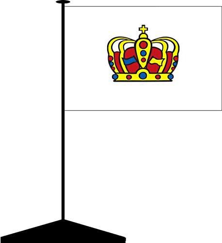 Saale Tischflaggenst/änder aus Holz K/önigsbanner Tischf/ähnchen Halle