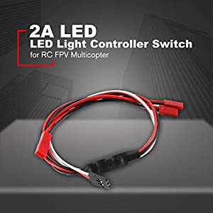 Lorenlli Single Way 2A LED Light Controller Switch for RC FPV Multicopter Helicopter Night Flight Fly Spare Parts