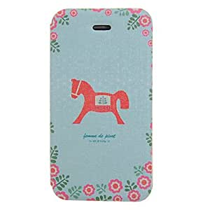 Buy Hobbyhorse Pattern PU Leather Full Body Case for iPhone 4/4S
